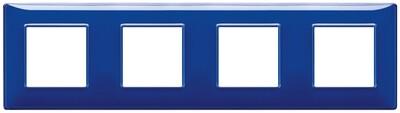 """Накладка для 8 модулей (2+2+2+2) расстояние между центрами 71мм Reflex """"сапфир"""""""