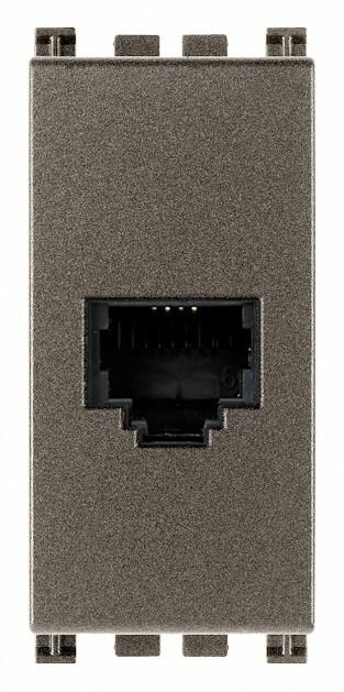 Розетка штеккер RJ11 6/4, Metal