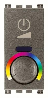 Выключатель с диммированием освещения RGB 230V, Metal