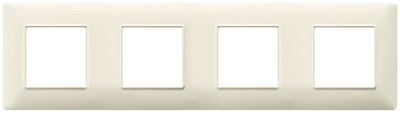 Накладка для 8 модулей (2+2+2+2) расстояние между центрами 71мм бежевая