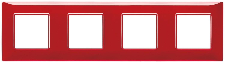 "Накладка для 8 модулей (2+2+2+2) расстояние между центрами 71мм Reflex ""рубин"""