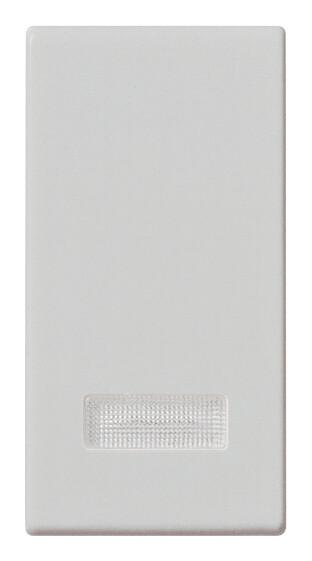 Клавиша на 1 мод. с диффузором, серебро