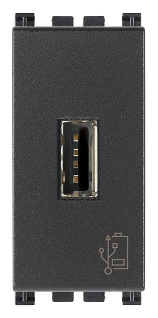 Зарядное устройство с разъемом USB 5V 1,5A, 1модуль, серое