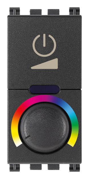 Выключатель с диммированием освещения RGB 230V, серый