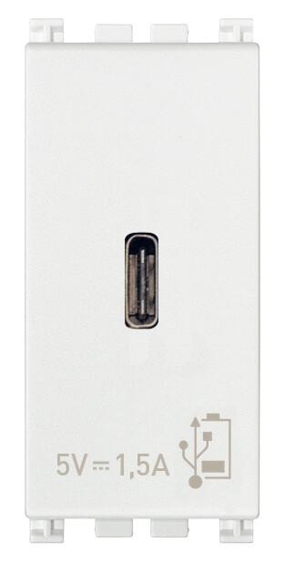 ЗарядноеустройствосразъемомUSBC5V1,5A,1модуль,белое