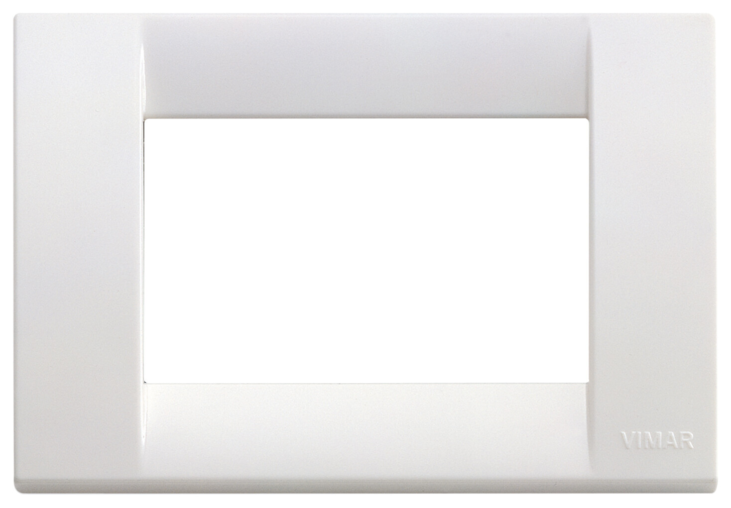 Накладка для 3 модулей пластик ярко-белый