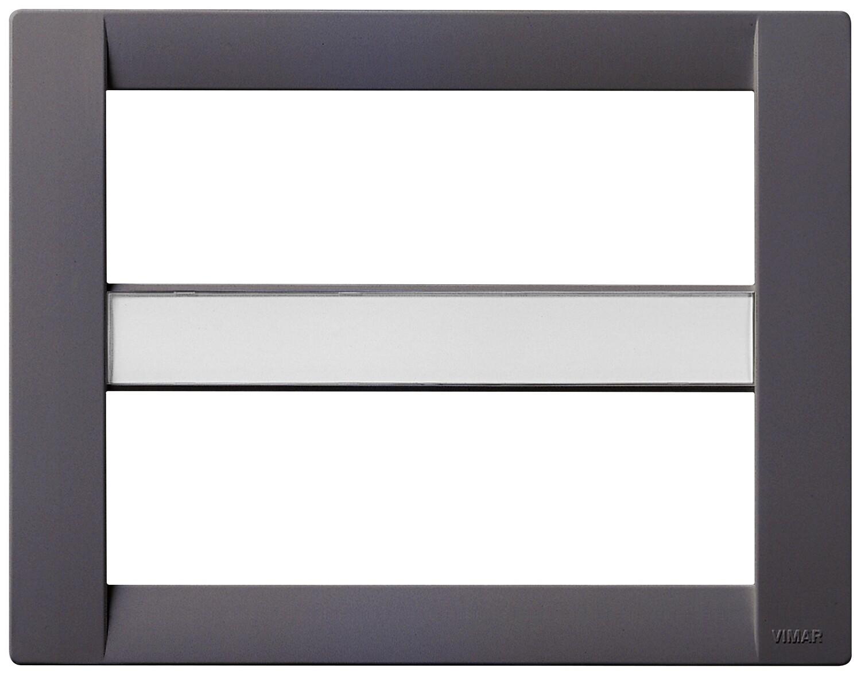 Накладка для 12 (6+6) модулей пластик серый IDEA