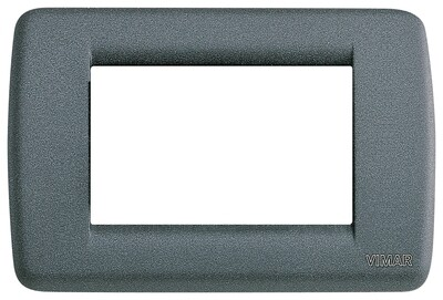 Накладка для 3 модулей RONDO металл серый шифер