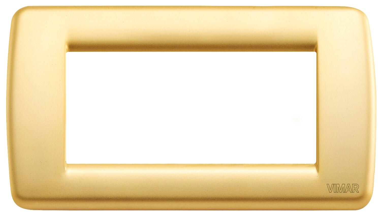 Накладка для 4 модулей RONDO металл матовое золото