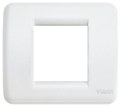 Накладка для 1-2 модулей RONDO пластик ярко-белый