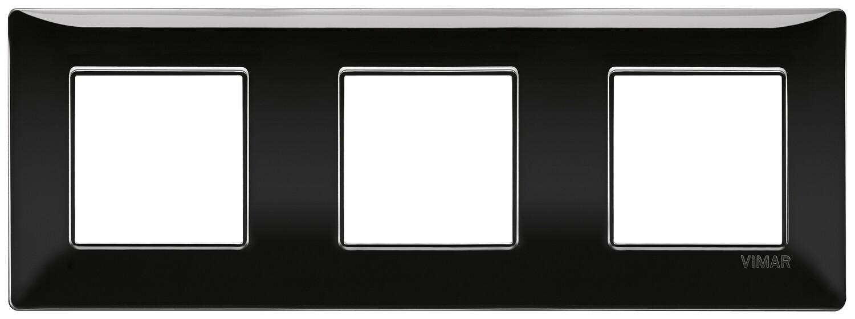Накладка для 6 модулей (2+2+2) расстояние между центрами 71мм черная