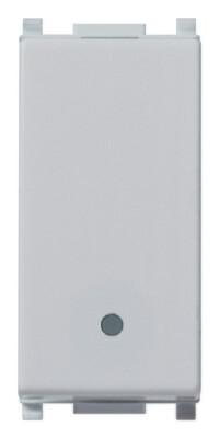 Переключатель 1p 16ax, серебро