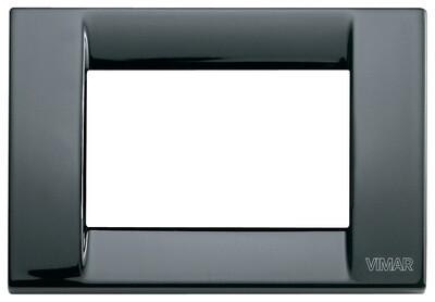 Накладка для 3 модулей металл черная