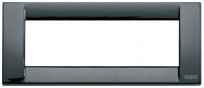 Накладка для 6 модулей металл черная
