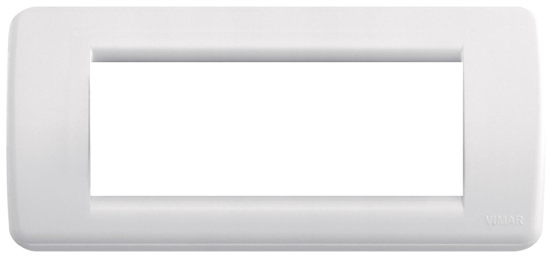 Накладка для 5 модулей RONDO пластик белый IDEA