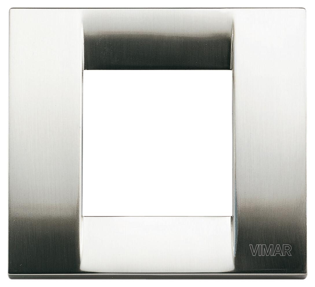 Накладка для 1-2 модулей металл никель