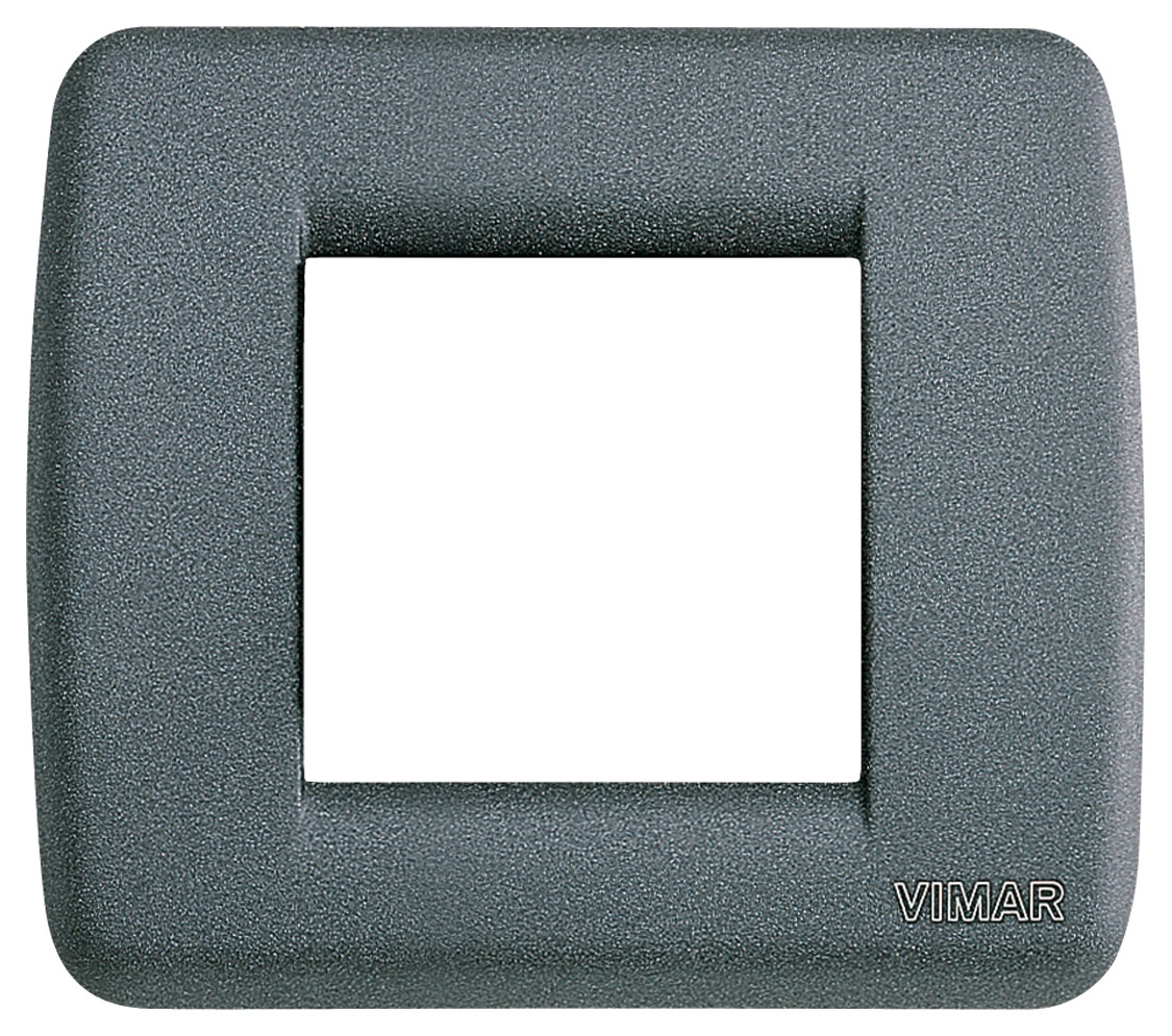 Накладка для 1-2 модулей RONDO металл серый шифер