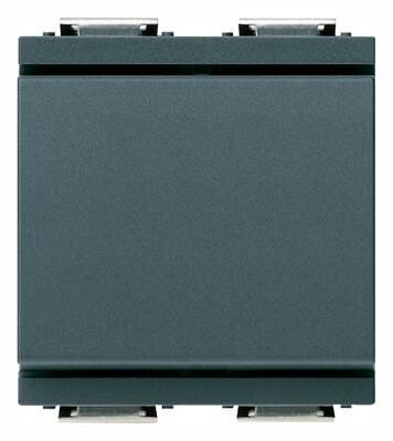 Переключатель 1P 16AX на 2 модуля, серый