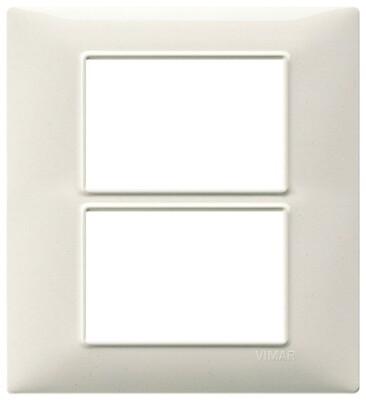 Накладка для 6 модулей (3+3) белый гранит