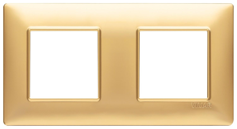 Накладка для 4 модулей (2+2) расстояние между центрами 71мм золото матовое