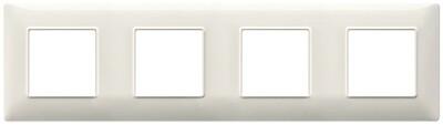 Накладка для 8 модулей (2+2+2+2) расстояние между центрами 71мм белый гранит