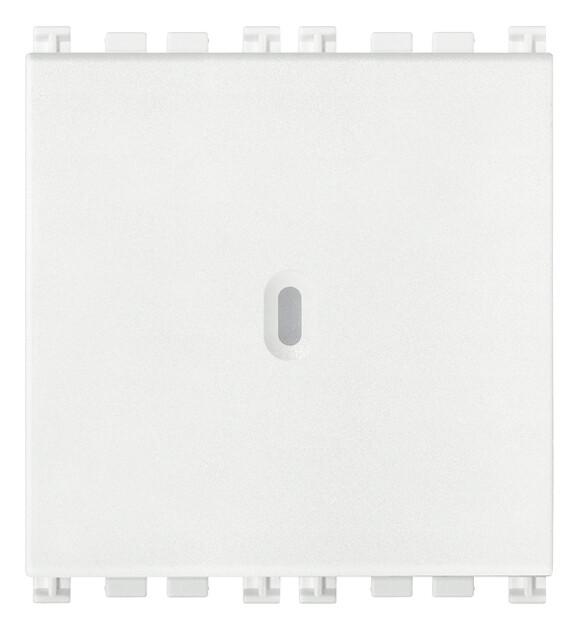 Кнопка 1P осевая NO 10A 2М, белая