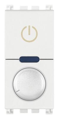 Выключатель с диммированием освещения поворотный ведущий 230V универсальный, белый