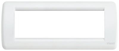 Накладка для 6 модулей RONDO металл белая