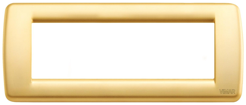 Накладка для 6 модулей RONDO металл матовое золото
