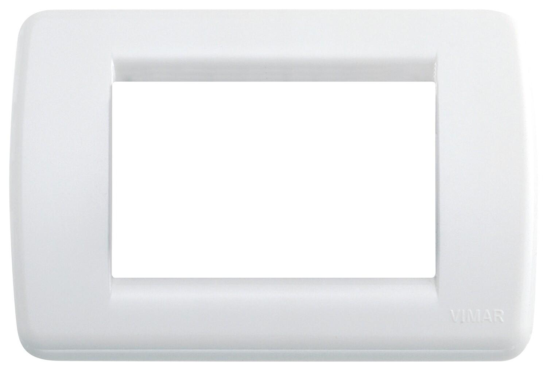 Накладка для 3 модулей RONDO пластик ярко-белый