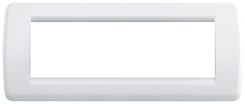 Накладка для 6 модулей RONDO пластик ярко-белый