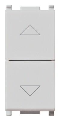 Кнопки NO+NO 1P 10A взаимоблокируемые, серебро