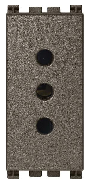 Розетка 2p+t 10a p12, metal