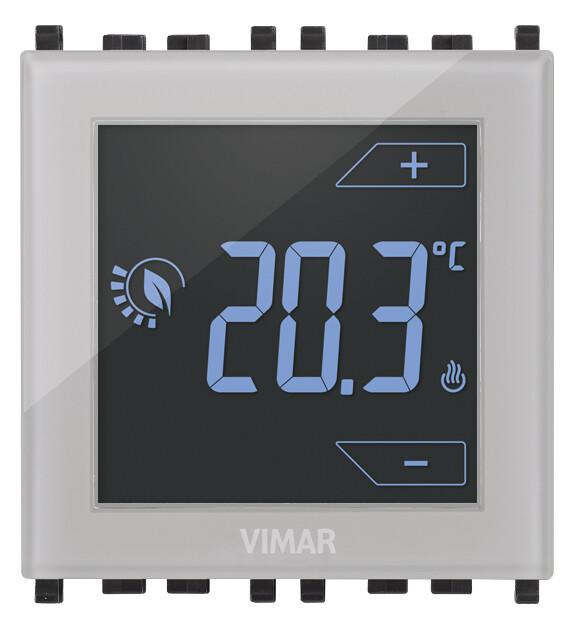 Термостат на 2 модуля 120-230V управление прикосновением, нейтральный