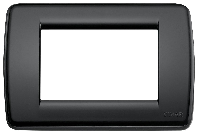 Накладка для 3 модулей RONDO пластик черный