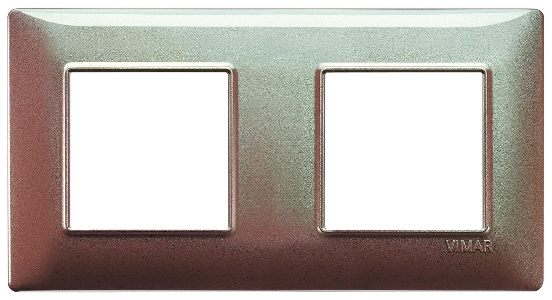 Накладка для 4 модулей (2+2) расстояние между центрами 71мм коричневая переливающаяся