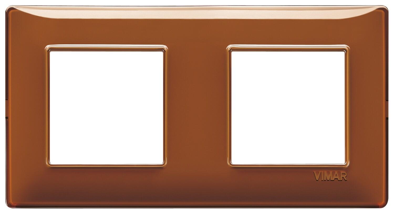 "Накладка для 4 модулей (2+2) расстояние между центрами 71мм Reflex ""табак"""