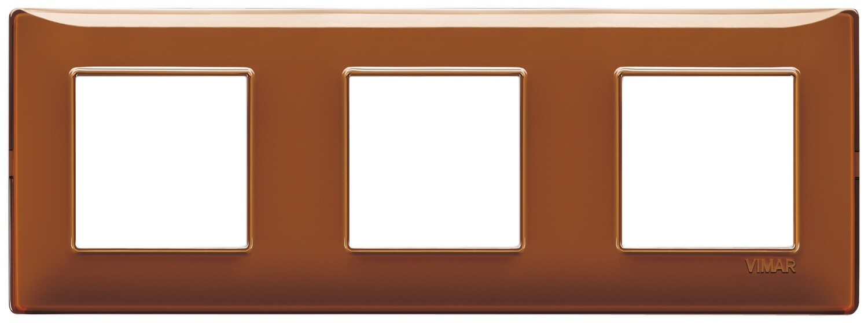 "Накладка для 6 модулей (2+2+2) расстояние между центрами 71мм Reflex ""табак"""