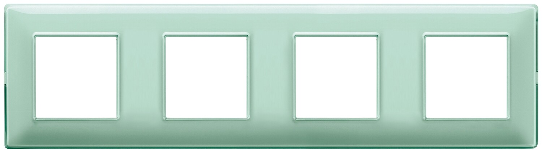 "Накладка для 8 модулей (2+2+2+2) расстояние между центрами 71мм Reflex ""мята"""