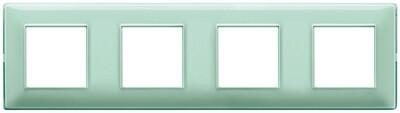 Накладка для 8 модулей (2+2+2+2) расстояние между центрами 71мм Reflex