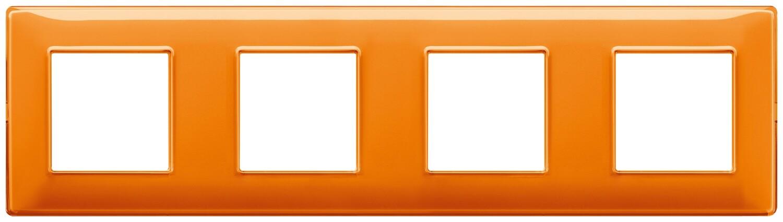 """Накладка для 8 модулей (2+2+2+2) расстояние между центрами 71мм Reflex """"апельсин"""""""
