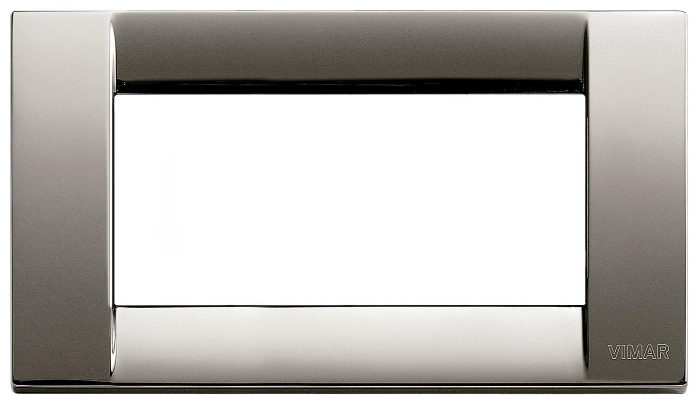 Накладка для 4 модулей металл черный хром