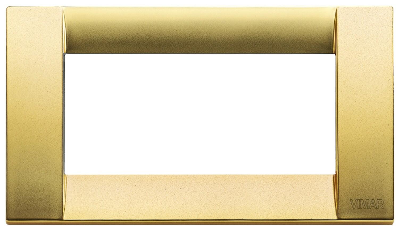 Накладка для 4 модулей металл матовое золото