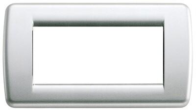 Накладка для 4 модулей RONDO металл металлик серебрянный