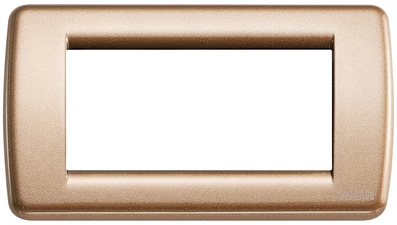 Накладка для 4 модулей RONDO металл металлик бронзовый
