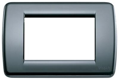Накладка для 3 модулей RONDO пластик графитовый серый
