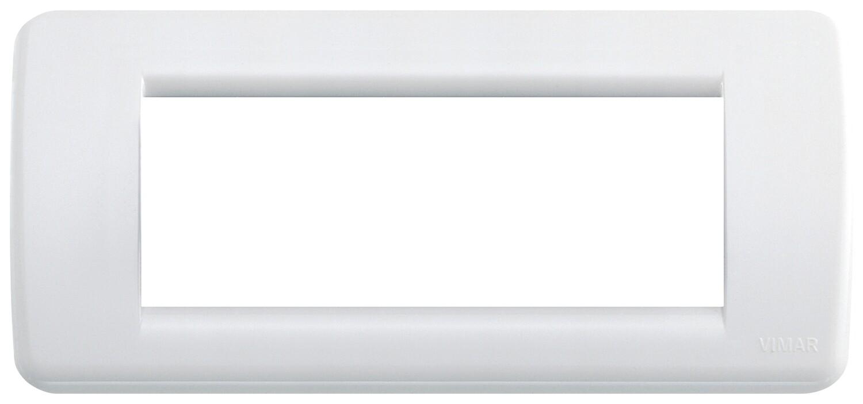 Накладка для 5 модулей RONDO пластик ярко-белый