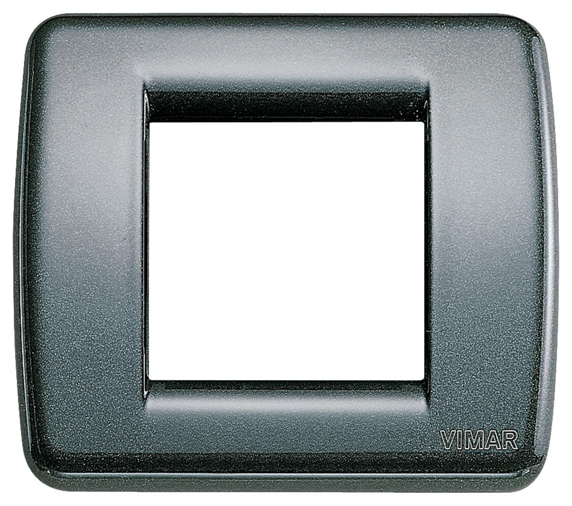 Накладка для 1-2 модулей RONDO металл металлик антрацитовый
