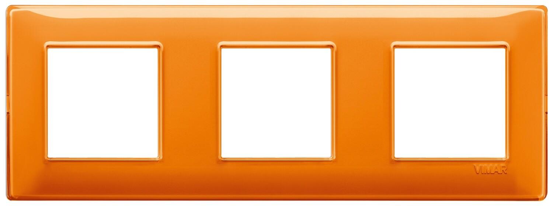 """Накладка для 6 модулей (2+2+2) расстояние между центрами 71мм Reflex """"апельсин"""""""