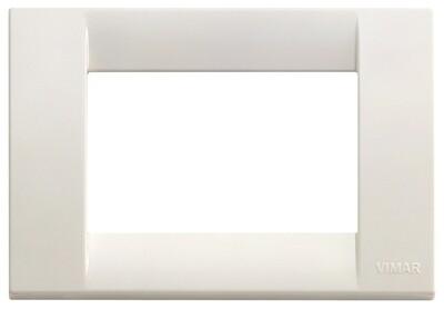 Накладка для 3 модулей пластик белый IDEA